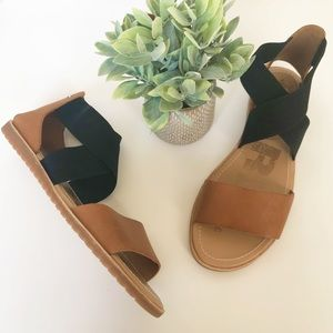 SOREL Ella Sandal Camel Brown